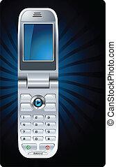 mobile, cellula, vettore, telefono