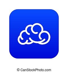 Mobile cloud icon blue