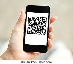 mobile, code, qr