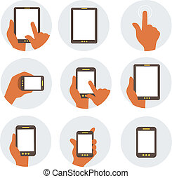 Mobile Communication Flat Icons