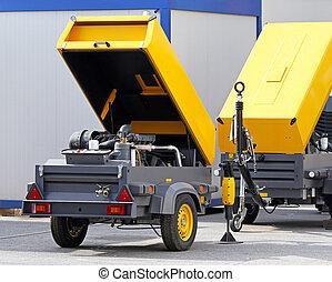 mobile, compresseur, air
