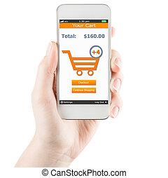 mobile, concept, achats
