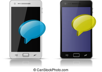 Mobile concept. Sending and Receiving messages