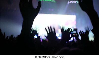 mobile, concert, foule