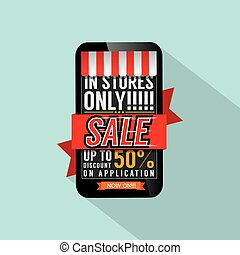 mobile, concetto, shopping, vettore