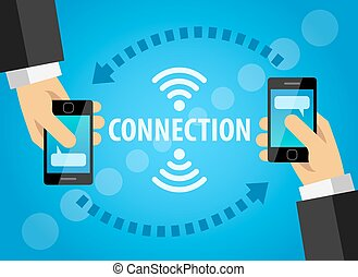 mobile, connexion, technologie