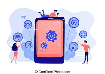 Mobile content concept vector illustration