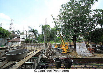 mobile crane in site