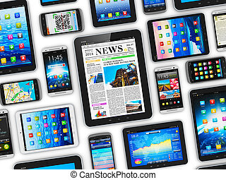 Mobile devices - Creative abstract mobility and digital...