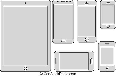 mobile devices template