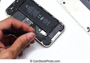 mobile, disassembly, riparazione