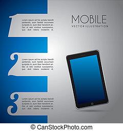 mobile, disegno, infographics