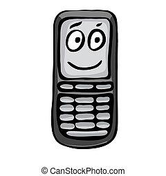 mobile, divertente, telefono