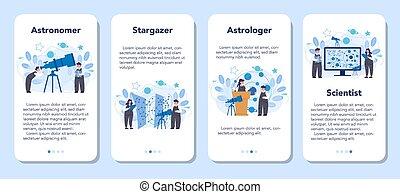 mobile, domanda, astronomo, bandiera, set., astronomia