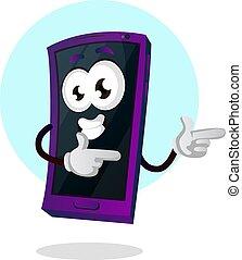 Mobile emoji thumbs up dancing illustration vector on white background
