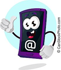 Mobile emoji with monkey a sign illustration vector on white background