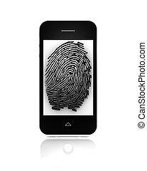 mobile, empreinte doigt