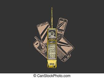mobile, evolution., telefono.