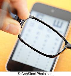mobile, eyechart, eyewear
