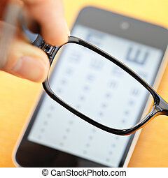 mobile, eyechart, eyewear