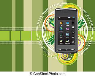 mobile, fond