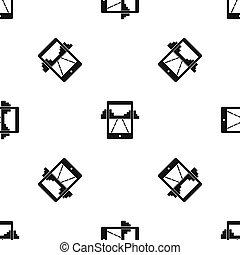 Mobile gaming pattern seamless black