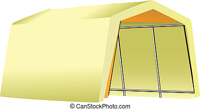 Mobile garage - Mobile Garage fabric - tent on a metal...