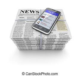 mobile, giornali