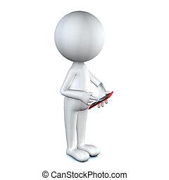 mobile, haut, téléphone, utilisation, fin, intelligent, ...