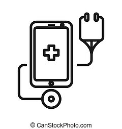 mobile health care illustration design