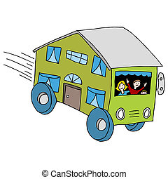 Mobile Home - An image of a mobile home.