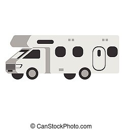 Mobile home flat illustration. City life and everyday...