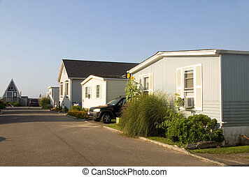 mobile homes in trailer park