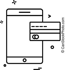 Mobile icon design vector