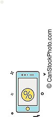 Mobile icon design vector