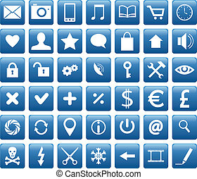 mobile icons - Set of web, business and mobile icons