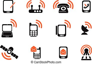 Mobile Icons - Mobile simply symbols for web and user...
