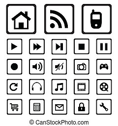 mobile icons. - Universal Outline Icons For Web and Mobile