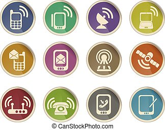 Mobile Icons - Label icons for web sites and user interfase