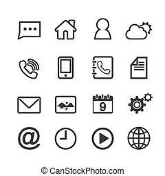 Mobile Icons. line theme