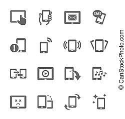 Mobile icons - Simple set of mobile devices related vector...