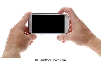 mobile, image, prendre