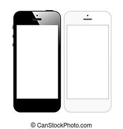 mobile, intelligent, téléphone, vecteur
