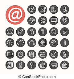 Mobile Interface Icons set .Illustration eps10