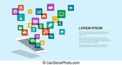 mobile internet concept