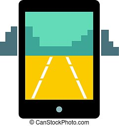 mobile, jeu, isolé, icône