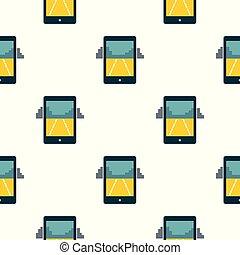 mobile, jeu, seamless, modèle