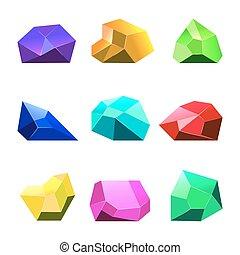 mobile, jeu, vecteur, fond, cristaux, blanc