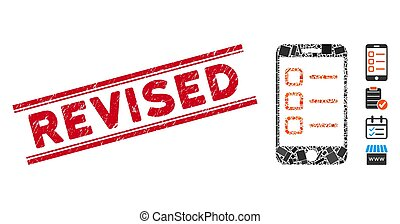 Mobile List Mosaic and Scratched Revised Watermark with ...
