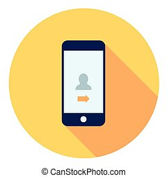 Mobile Lock Page Flat Icon